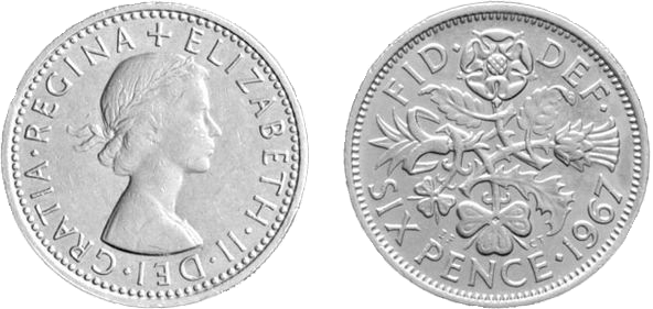 Great Britain 1953-1967 Lucky Sixpence Coin